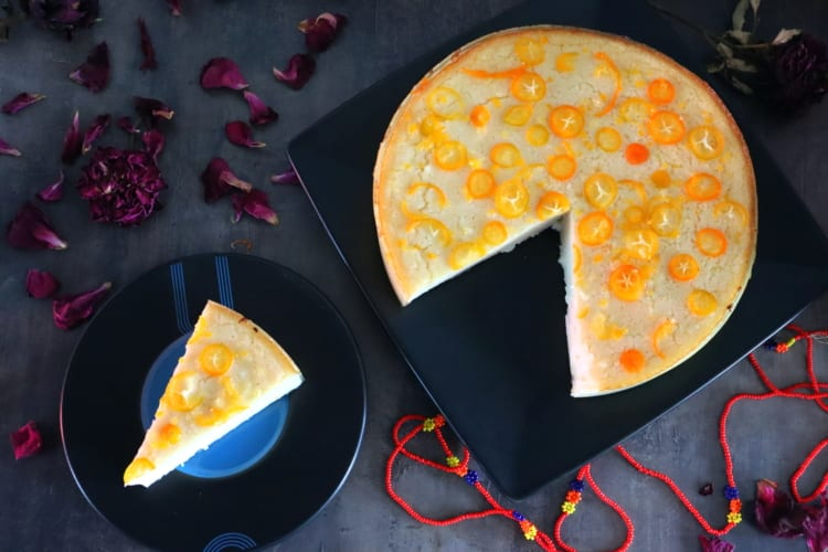 Bezlepkový cheesecake s kumqatem