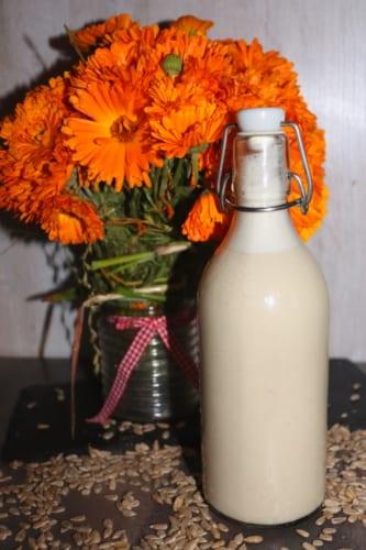 Mléko z pražené slunečnice