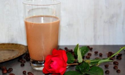 Ledová káva s mandarinkovou šťávou
