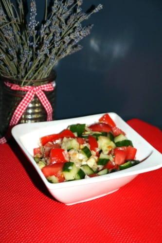 Marocký rajčatový salát Shirazi
