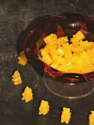Pomerančové gumové bonbony na klouby