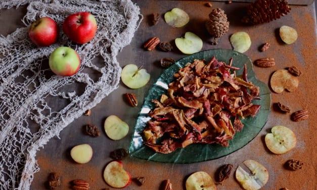 Chipsy z jablečných slupek