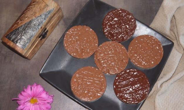 Rýžové chlebíčky s čokoládovou polevou