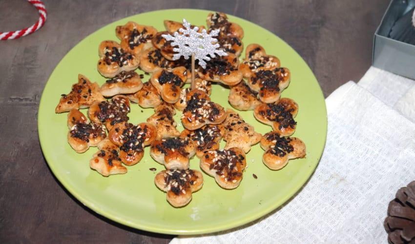 Slané vánoční cukroví z listového těsta