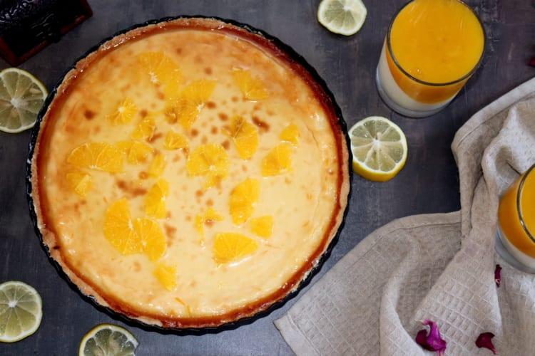 Tvarohový cheesecake s pomerančem