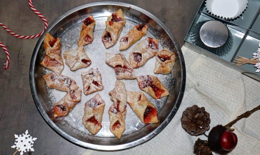 Rychlé vánoční cukroví z listového těsta