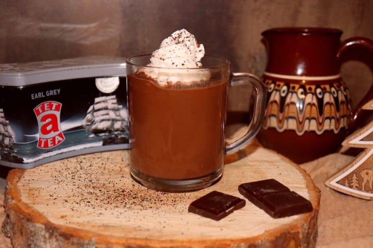 Horká čokoláda s čajem Earl grey