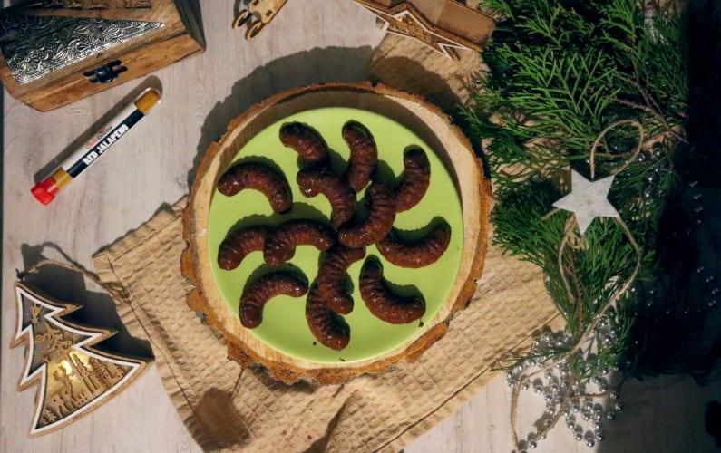 Kakaové rohlíčky s hořkou čokoládou a chilli