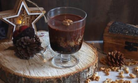 Bulgur s povidly a čokoládovou omáčkou