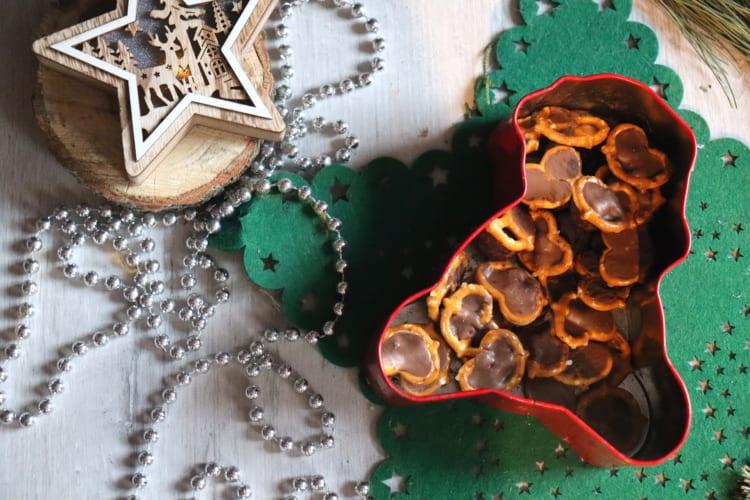 Preclíky s čokoládou a lentilkami