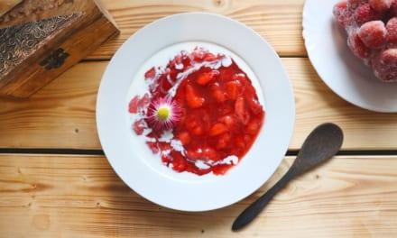 Čerstvý jahodový kompot