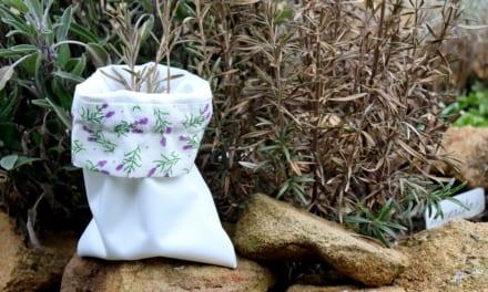 Nové sáčky na bylinky a první úroda ze zahrádky
