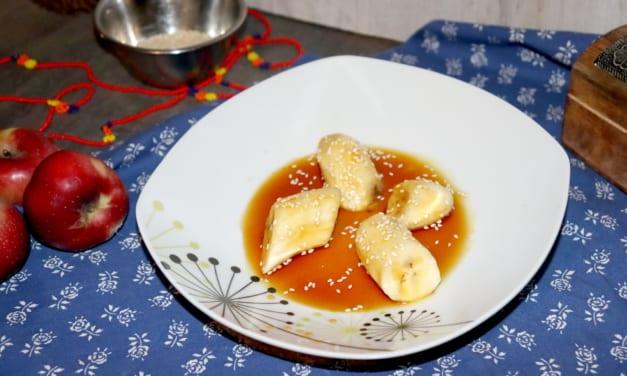 Lepkavé banány se sezamem