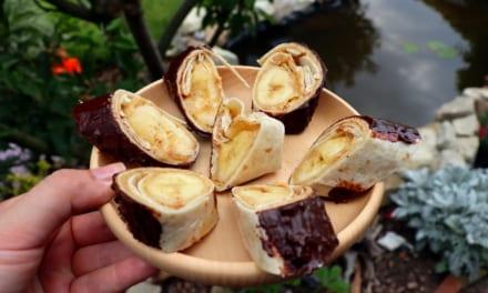 Sladké burrito s banánem (a také sladké sushi:-))